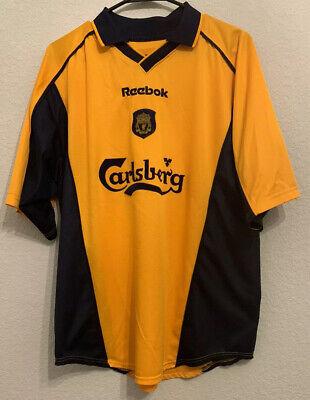Liverpool Away Football Shirt Jersey 2000 2001 Reebok Mens L EUC