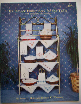 Hardanger Embroidery for the table patterns diagrams basics