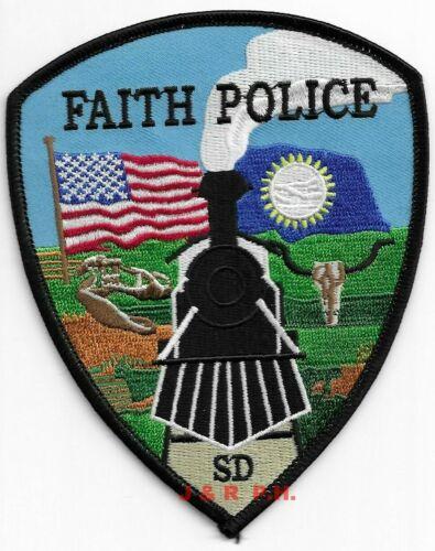 "Faith  ""Railroad"", South Dakota  (4"" x 5"" size) shoulder police patch (fire)"