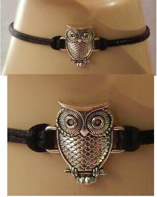 Owl Choker Necklace Chain Black Silver Women Fashion Accessories Bird Jewelry