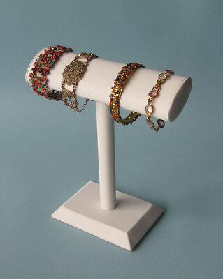 9h White Jewelry Display Oval Cylinder T Bar Bracelet Bangle Watch Pj40w1