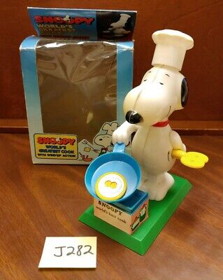 """4/"""" Snoopy chef cook kitchen set fabric applique iron on character"""