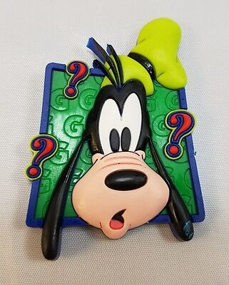 Disney Goofy Magnet Green with Question Marks and The Letter G