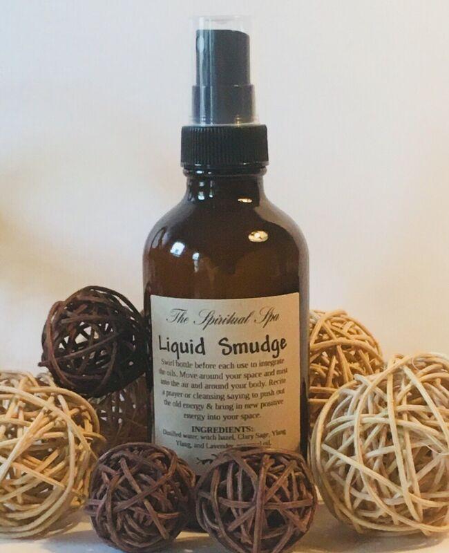 Smokeless Smudge Spray White Sage & Lavender Clear Negative Energy 1oz