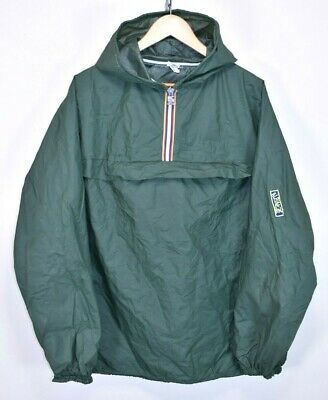 EARLY 70s K-WAY SMOCK 1/4 ZIP VINTAGE WATERPROOF RAINCOAT CAGOULE RAIN JACKET L
