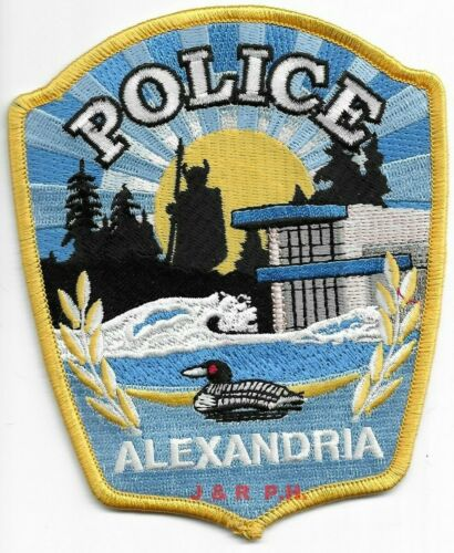 "*NEW* Alexandria  Police Dept., Minnesota (4"" x 5"") shoulder police patch (fire)"