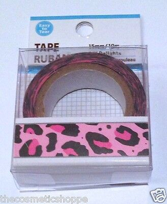Dollar Tree Washi Tape Pink Leopard Print New Easy To Tear  So Cute