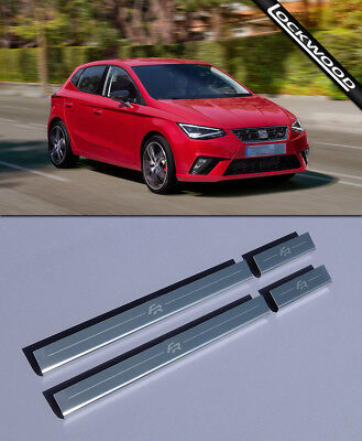 Seat Ibiza FR Mk6 (Released 2017) Stainless Sill Protectors / Kick Plates