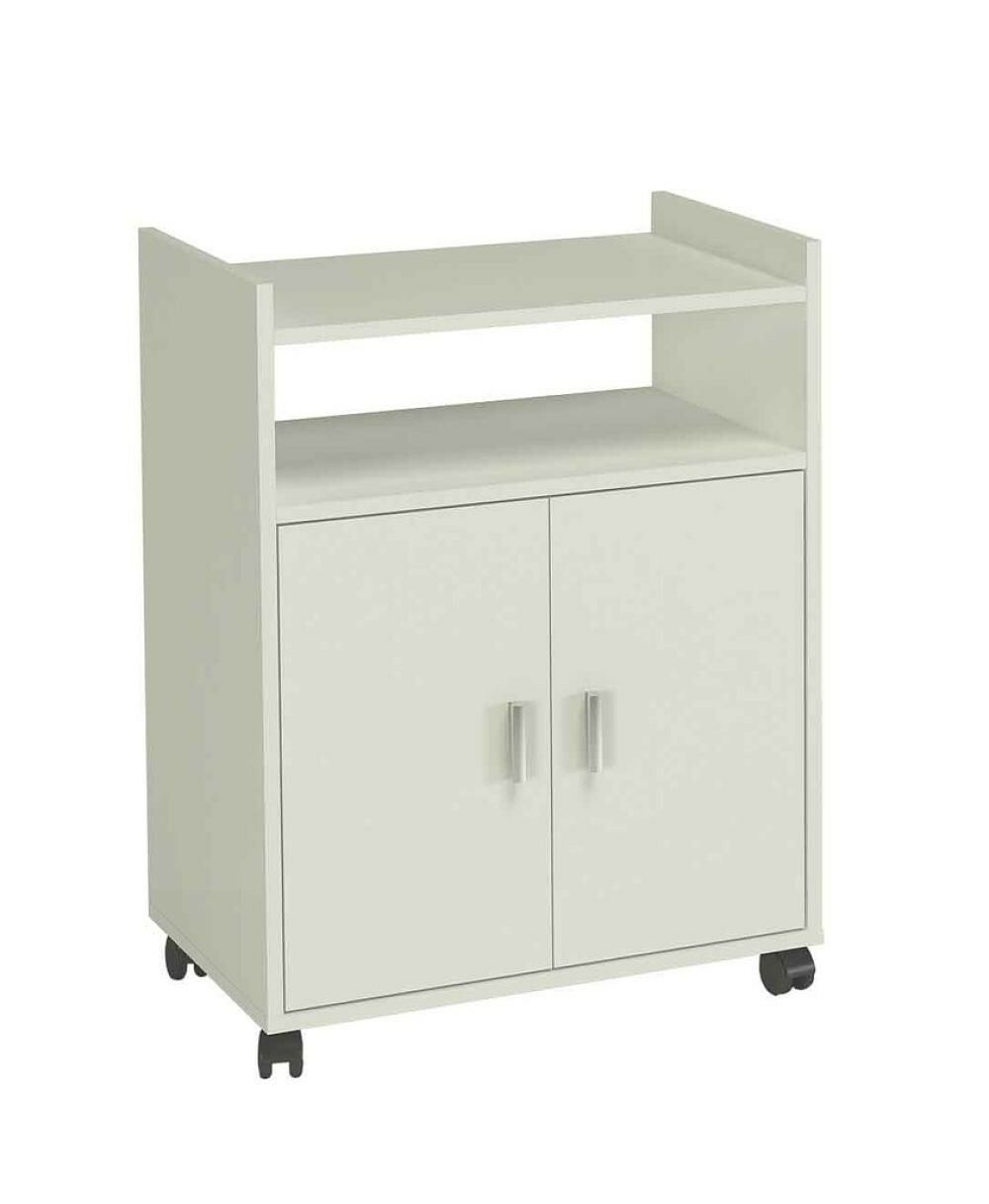 Hogar24 mueble armario auxiliar de cocina para microondas color blanco ebay - Armarios auxiliares para cocina ...