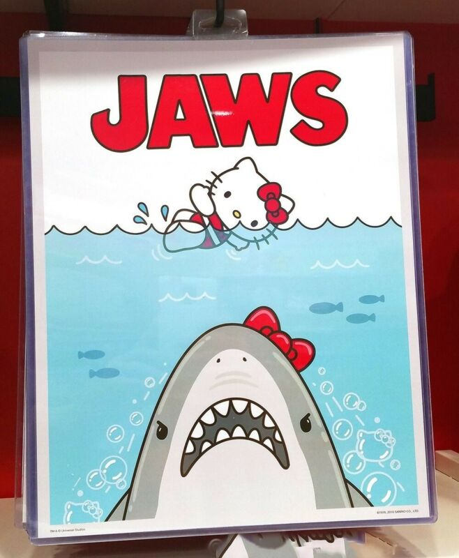 Authentic Universal Studios Hello Kitty Jaws Shark Movie Poster