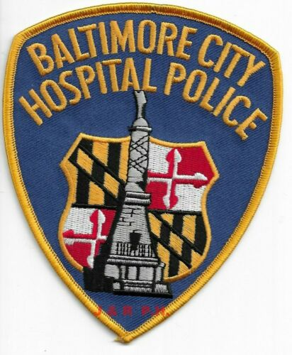 """Baltimore City Hospital Police, Maryland  (4"""" x 5"""") shoulder police patch (fire)"""