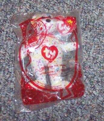 2009 TY Teenie Beanie McDonalds Happy Meal Toy Streamers the Bear #9 NIP