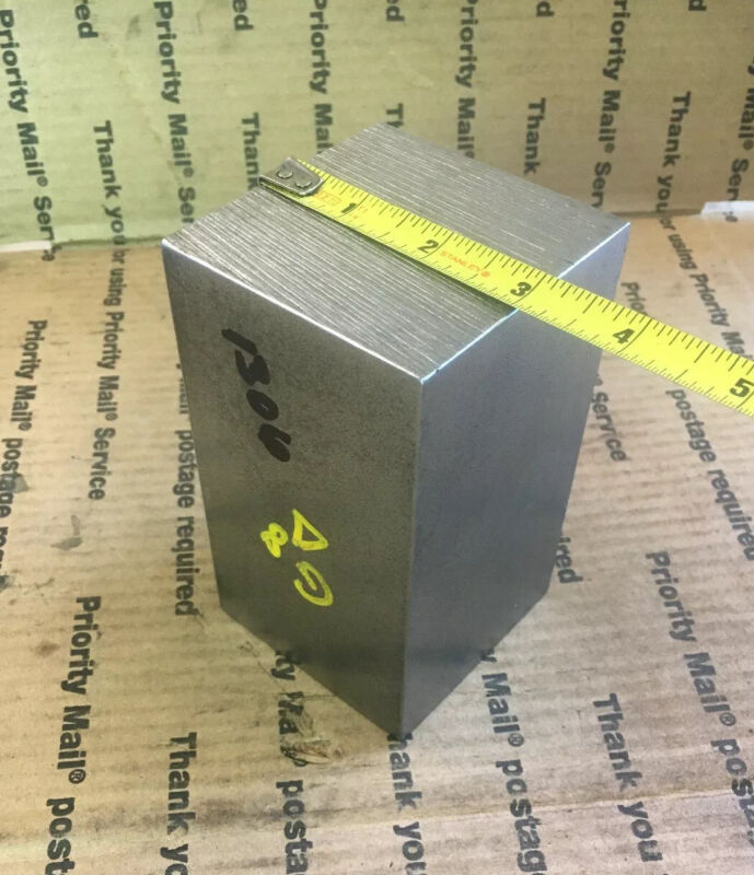 """3"""" Steel Square Bar Racing Ballast Blacksmith Machining Cold Rolled Cube 5"""""""