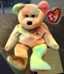 TY BEANIE BABY PEACE 1996 ORIGINAL MINT CONDITION RETIRED NEVER USED