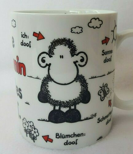 Sheepworld BENJAMIN Personalized Mug in German - without B everything is stupid