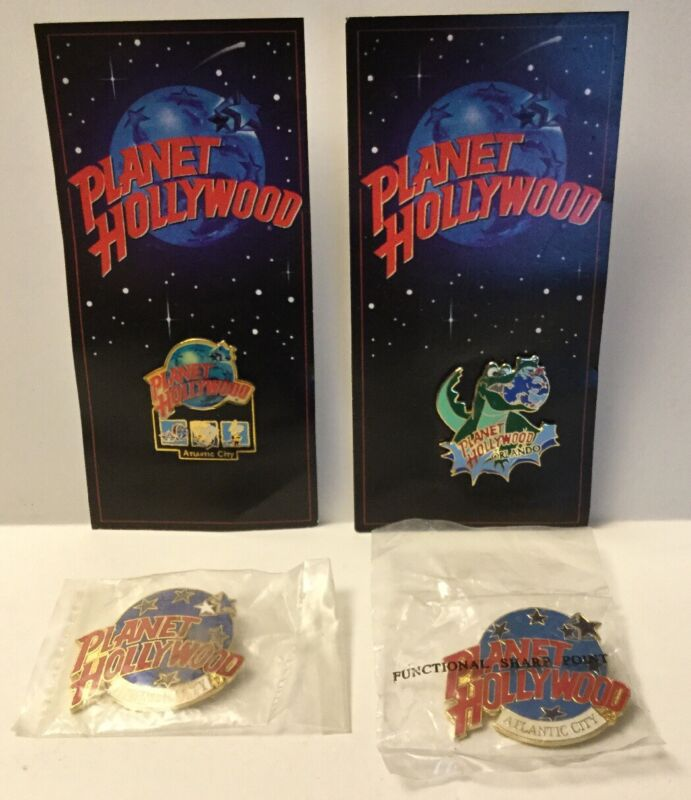 PLANET HOLLYWOOD ATLANTIC CITY / ORLANDO PIN LOT OF 4