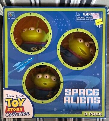 RARE Disney PIXAR Toy Story Collection Space Alien 3 Pack Action Figure NEW