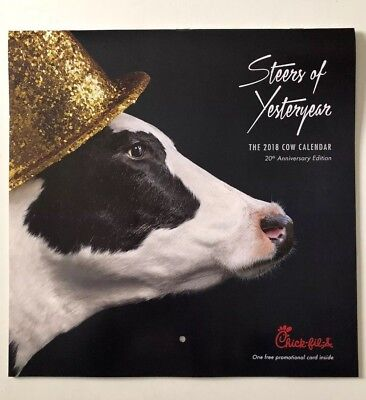 New 2018 Chick Fil A Cow Calendar Card Only   Get Lots Of Free Food