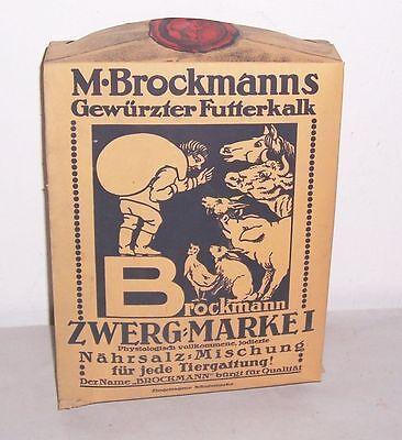 Schaufenster Schaupackung Brockmanns gewürzter Futterkalb Viehfutter vor 1945 !