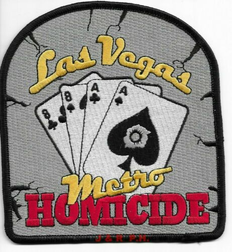 "Las Vegas  Metro Homicide, Nevada (4.5"" x 5"" size) shoulder police patch (fire)"