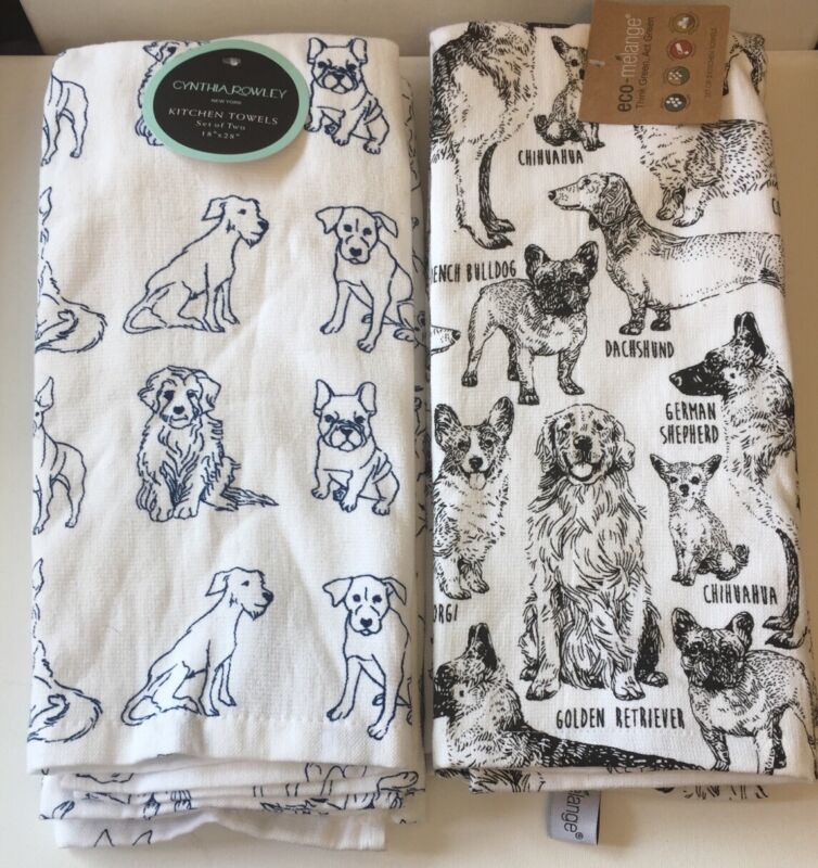 French Bulldog Kitchen Towels 2 Different Patterns You Pick Your Pattern