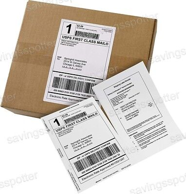 500 Ct. Avery White Shipping Labels Paper Receipts 5-116 X 7-58 Half Sheet