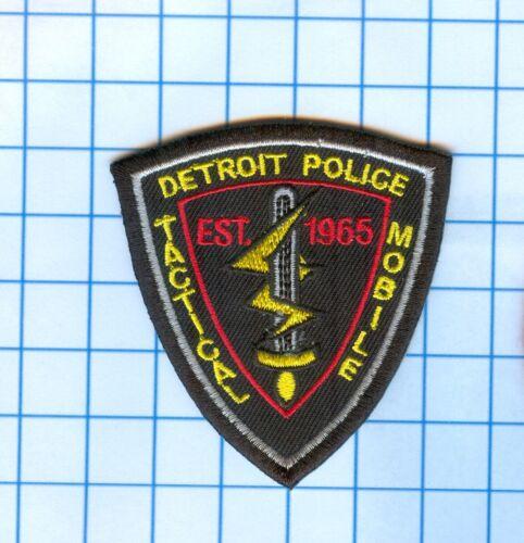 """Police Patch -  Michigan - Detroit Mobile Tactical Est 1965  3 1/2"""" X 3"""""""