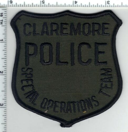 Claremore Police (Oklahoma) subdued Special Operations Team Shoulder Patch