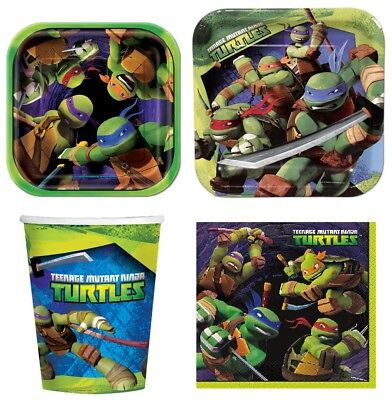 Ninja Turtles Party Supplies Express Pack for 8 Guests (Cups Napkins, Plates) ()