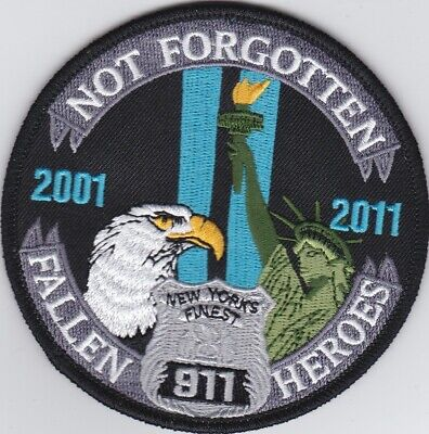 NYPD Not Forgotten New York´s Finest 2001 - 2011 Patch