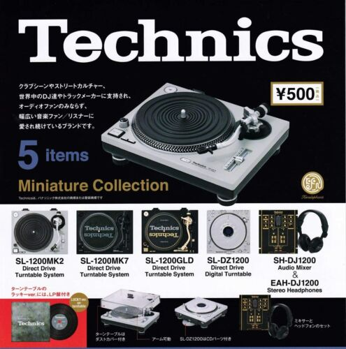 New Technics Miniature Collection All 5 types set  Figure Capsule Toy Without LP