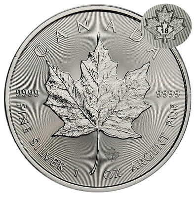 2018 Canada 1 oz Silver Maple Leaf $5 Coin GEM BU Coin SKU49792