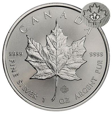 2018 Canada 1 oz Silver Maple Leaf $5 Coin GEM BU Coin SKU49792