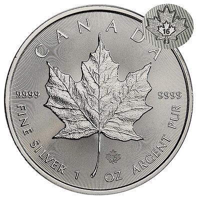 2016 Canada 1 Troy Oz .9999 Fine Silver Maple Leaf $5 Coin SKU37993