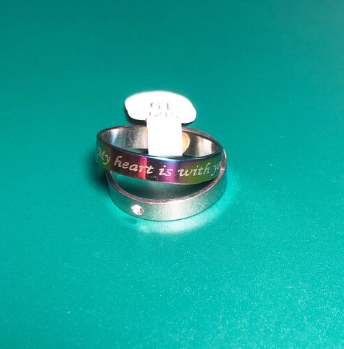 Silver Couple Love Rings 19mm