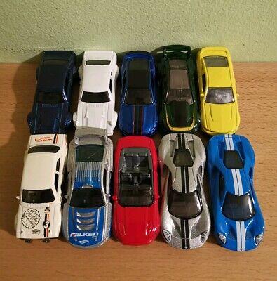 Hot Wheels - Ford Lot of 10 Cars - Mustang, GT, Maverick, Escort, GT350R - Loose