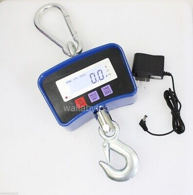 New Heavy Duty Digital Scale Portable Hanging Electronic Crane Lcd Steel Hooks