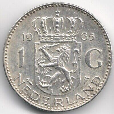 Netherlands : 1 Gulden 1965 Silver