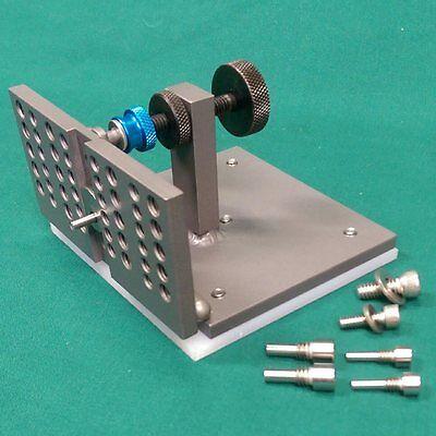 "D-D Work Rest Adjustable Knife Grinding Jig 4"" x2"" Center Sliding Support Pin"