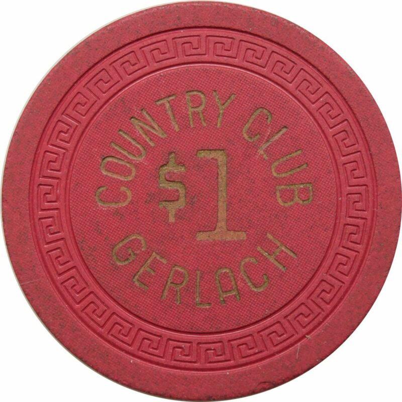 Country Club Gerlach NV $1 Chip 1953