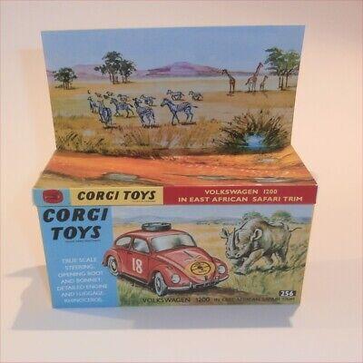Corgi Toys  256 Volkswagen VW 1200 Safari empty Repro Box & Insert segunda mano  Embacar hacia Mexico