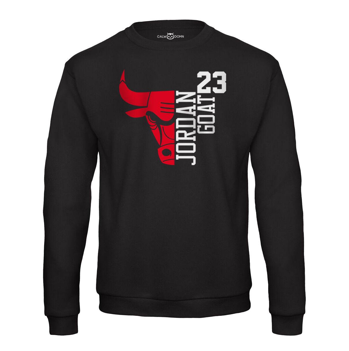 Jordan Sweat Shirt 23 GOAT Chicago Herren Pullover Bulls Michael Basketball