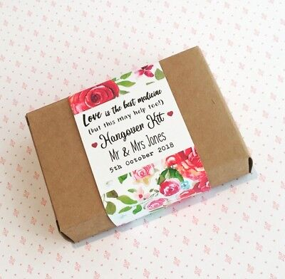 Personalized Wedding Favor Boxes (Wedding Hangover Survival Kit! Personalised Wedding Favour Boxes &)