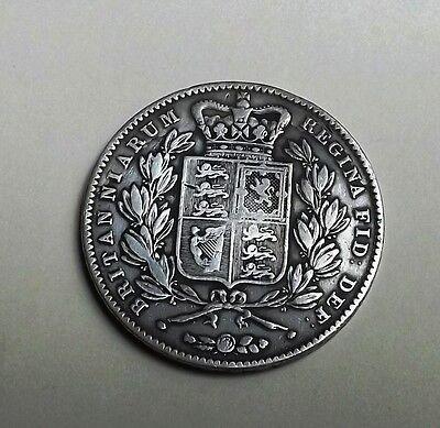 VICTORIA 1844 CROWN[CINQUEFOIL STOPS] VERY NICE RARE COIN