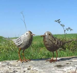 Couple d oiseau oiseaux statue decoration animaux coq canard de jardin en fer - Oiseau en fer pour jardin ...