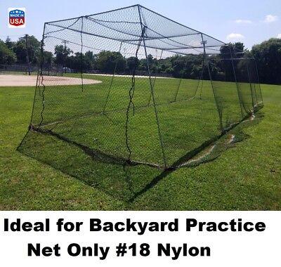 Backyard Baseball Batting Cage #18 Nylon Net Netting All Sizes