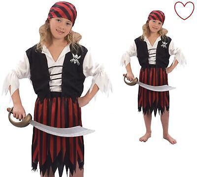 Pirate Kids Costume Ship Mate Fancy Dress Book Week Girls - Pirate Mate Costume