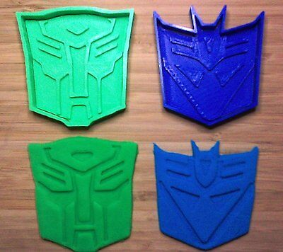 Transformers Cookie Cutters - Autobot, Decepticon - Choice of Sizes - 3D Printed ()