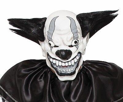 Scary Clown Mask Wide Smile Black Hair ICP Evil Adult Creepy Halloween - Evil Smile Halloween