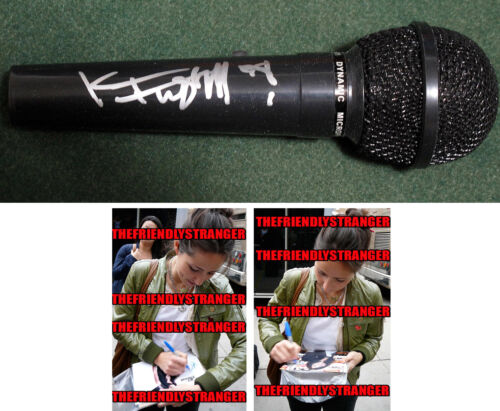 KT TUNSTALL signed Autographed MICROPHONE - PROOF - SINGER Suddenly I See COA